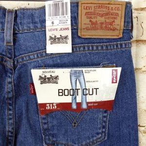 Levis 515 Boot Cut Stretch Regular Fit Blue Jean